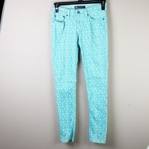 Levi's 524 Too Superlow patterned skinny jeans